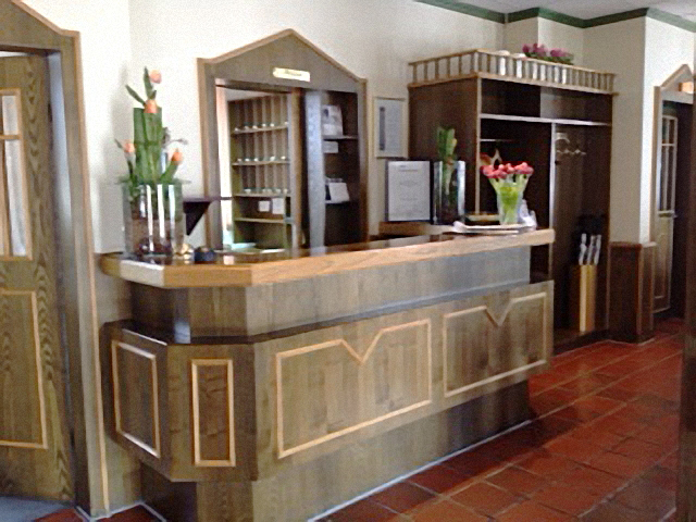 Hotel Strijewski Rezeption vorher